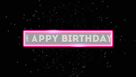 Animation-text-Happy-Birthday-and-motion-abstract-neon-shape-disco-background-1