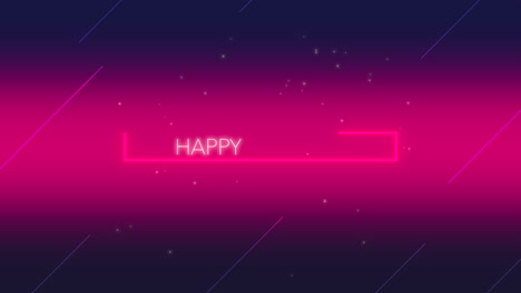 Animation-text-Happy-Birthday-and-motion-abstract-neon-shape-disco-background-2
