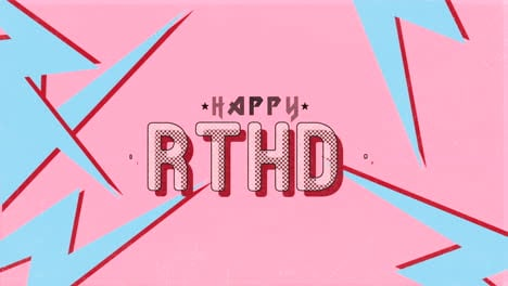 Animation-intro-text-Happy-Birthday-on-black-hipster-and-grunge-background
