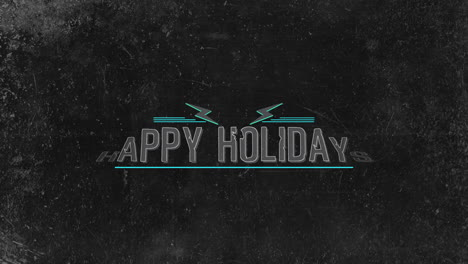 Animación-Texto-De-Introducción-Felices-Fiestas-Sobre-Fondo-Negro-Hipster-Y-Grunge