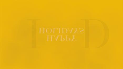 Animation-intro-text-Happy-Holidays-on-yellow-fashion-and-minimalism-background