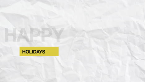 Animation-intro-text-Happy-Holidays-on-white-hipster-and-grunge-background