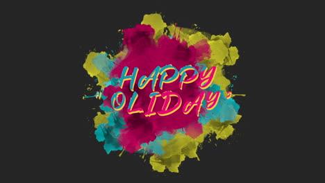 Animación-Texto-De-Introducción-Felices-Fiestas-Sobre-Moda-Y-Fondo-De-Pincel-1