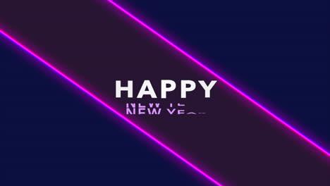 Texto-De-Animación-Feliz-Año-Nuevo-En-La-Moda-Y-El-Fondo-Del-Club-Con-Líneas-Púrpuras-Brillantes