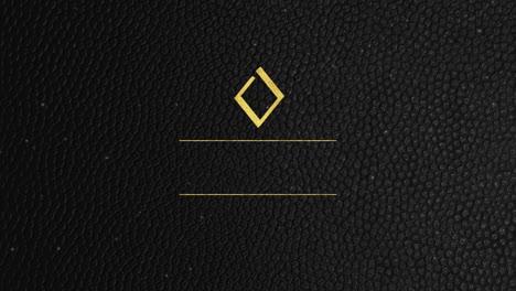 Forma-Geométrica-Abstracta-De-Oro-Y-Lujo-Con-Fondo-Retro-De-Marco