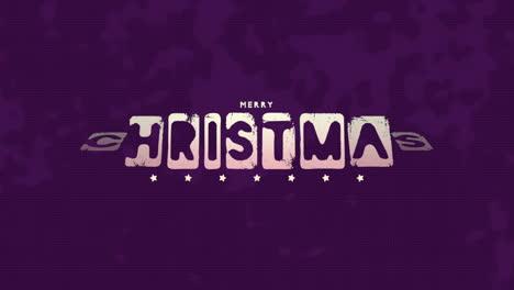 Texto-De-Introducción-De-Animación-Feliz-Navidad-Sobre-Fondo-Morado-Hipster-Y-Grunge