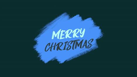 Texto-De-Introducción-De-Animación-Feliz-Navidad-Sobre-Fondo-Azul-De-Moda-Y-Pincel