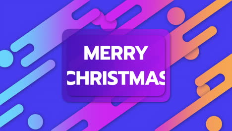 Animación-Texto-Feliz-Navidad-Y-Movimiento-Formas-Geométricas-Abstractas-Memphis-Fondo-8