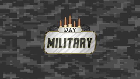 Texto-De-Animación-Día-Militar-Sobre-Fondo-Militar-Con-Patrocinadores