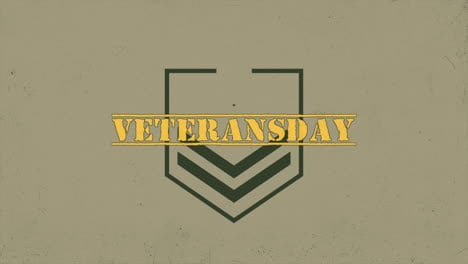 Animation-text-Veterans-Day-on-warfare-background-with-stamps-and-stars