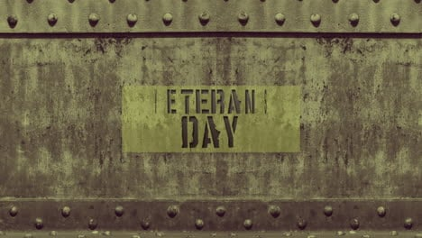 Animation-text-Veterans-Day-on-military-background