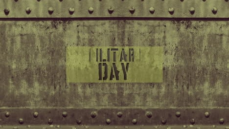 Texto-De-Animación-Día-Militar-Sobre-Fondo-Militar