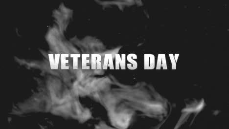 Animaci�n-Texto-D�a-De-Los-Veteranos-Sobre-Fondo-Militar-Con-Humo-Oscuro-Animation-text-Veterans-Day-on-military-background-with-dark-smoke
