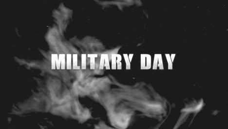 Animaci�n-Texto-D�a-Militar-Sobre-Fondo-Militar-Con-Humo-Oscuro-Animación-Texto-Día-Militar-Sobre-Fondo-Militar-Con-Humo-Oscuro