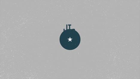 Animación-Texto-Día-Militar-Sobre-Fondo-Militar-Con-Sello-De-Avión