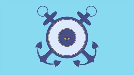 Animación-Texto-Mar-Militar-Sello-Ob-Fondo-Azul