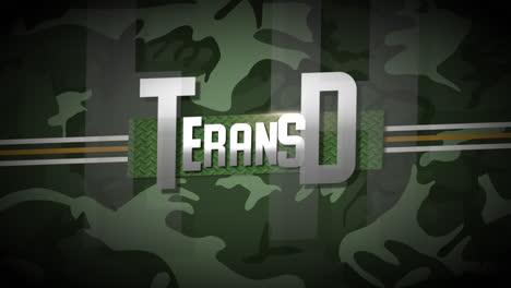 Texto-De-Animación-Día-De-Los-Veteranos-Sobre-Fondo-Militar-Con-Líneas-Y-Estrellas