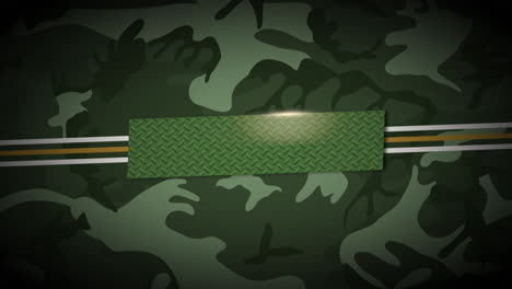 Animation-lines-and-military-stars-on-green-background