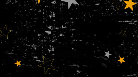 Motion-abstract-yellow-and-grey-stars-colourful-grunge-background