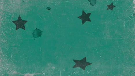 Motion-abstract-green-stars-colourful-grunge-background