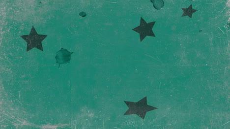 Movimiento-Extracto-Verde-Estrellas-Colorido-Grunge-Plano-De-Fondo