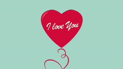 Animated-closeup-I-Love-You-text-and-motion-romantic-red-ballon-heart-on-Valentines-day-background