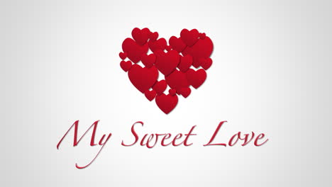 Animated-closeup-My-Sweet-Love-text-and-motion-small-red-hearts-on-Valentines-day-background