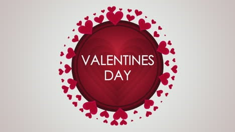 Animated-closeup-Valentines-Day-text-and-motion-small-red-hearts-on-Valentines-day-background