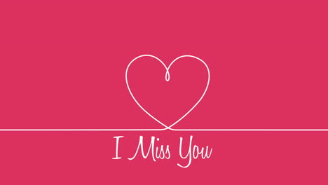 Animated-closeup-I-Miss-You-text-and-motion-romantic-red-heart-on-Valentines-day-background