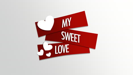 Animated-closeup-My-Sweet-Love-text-and-motion-romantic-white-hearts-on-Valentines-day-background