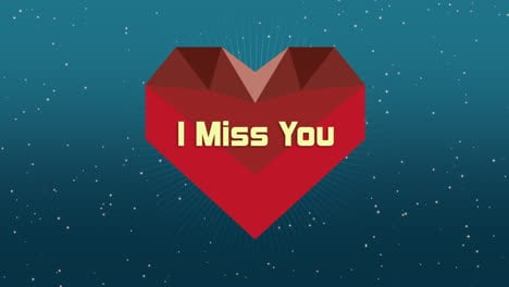 Animated-closeup-I-Miss-You-text-and-motion-geometric-red-heart-on-Valentines-day-background
