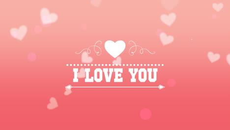 Animated-closeup-I-Love-You-text-and-fly-romantic-pink-hearts-on-Valentines-day-background