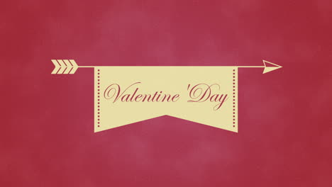 Animated-closeup-Valentines-Day-text-and-motion-heart-with-arrow-on-Valentines-day-background-1