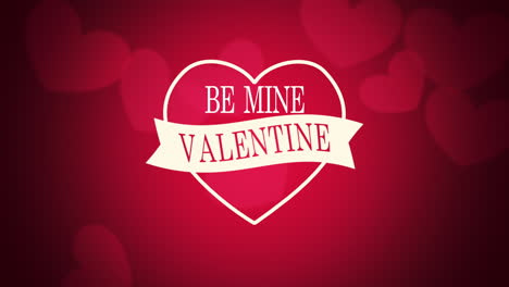 Animated-closeup-Be-Mine-Valentine-text-and-motion-romantic-red-hearts-on-Valentines-day-background-1