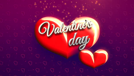 Animated-closeup-Valentine-Day-text-and-motion-romantic-big-hearts-on-Valentine-day-shiny-background