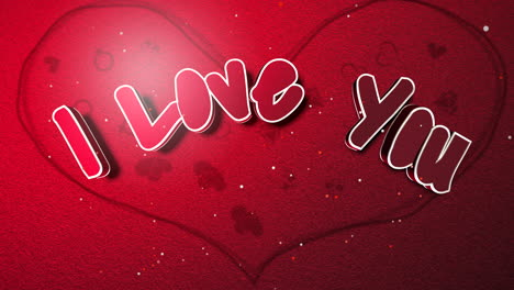 Animated-closeup-I-Love-you-text-and-motion-romantic-big-heart-on-Valentine-day-shiny-background