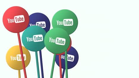 Moscú-Rusia-9-De-Diciembre-De-2020:-Iconos-De-Movimiento-De-La-Red-Social-Youtube-Sobre-Fondo-Simple