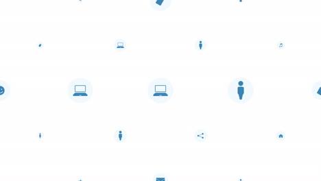 Iconos-De-Red-De-Movimiento-Sobre-Fondo-Simple