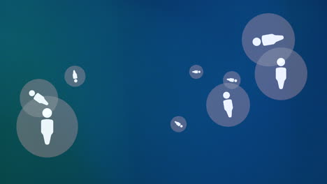Motion-Person-icons-on-simple-network-background