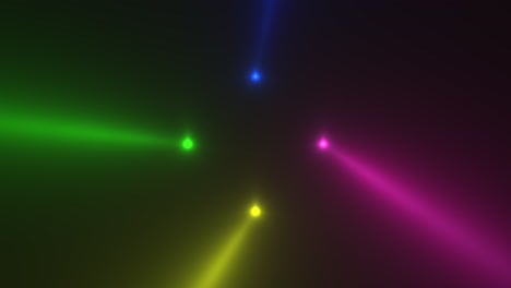 Animation-motion-colorful-glowing-spotlight-beams-on-dark-background-in-stage-3