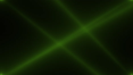 Animation-motion-green-glowing-spotlight-beams-on-dark-background-in-stage-7