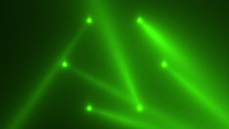 Animation-motion-green-glowing-spotlight-beams-on-dark-background-in-stage-1