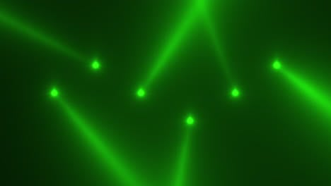 Animation-motion-green-glowing-spotlight-beams-on-dark-background-in-stage-2