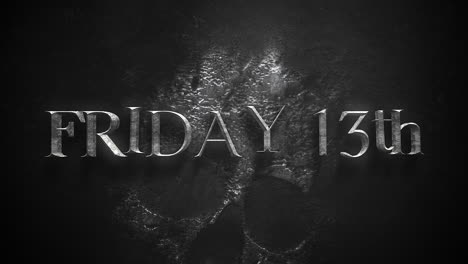 Animation-text-Friday-13th-on-mystical-horror-background-with-dark-skull