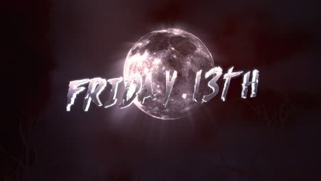 Animation-text-Friday-13th-and-mystical-animation-halloween-background-with-dark-moon-and-clouds