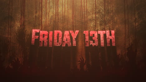 Animation-text-Friday-13th-on-mystical-horror-background-with-dark-blood-and-hands