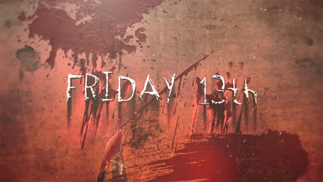 Animation-text-Friday-13th-and-mystical-horror-background-with-dark-blood-abstract-backdrop