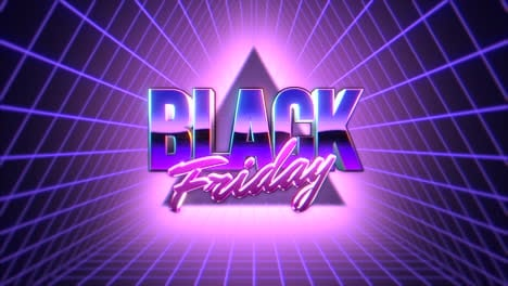 Animation-intro-text-Black-Friday-and-retro-abstract-triangles-retro-background