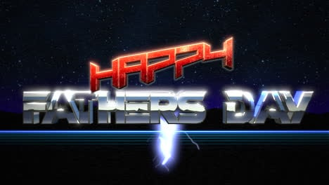 Animation-intro-text-Fathers-day-and-thunderbolt-retro-holiday-background