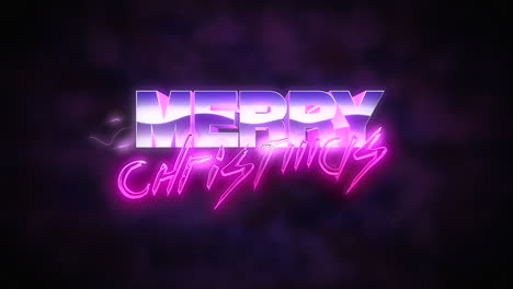 Animation-intro-text-Merry-Christmas-and-thunderbolt-retro-holiday-background-1